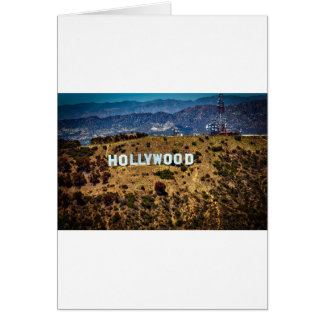 Hollywood Sign Iconic Mountains Los Angeles Card