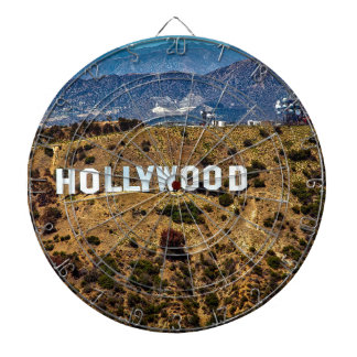 Hollywood Sign Iconic Mountains Los Angeles Dartboard