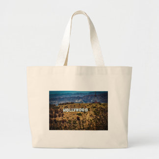 Hollywood Sign Iconic Mountains Los Angeles Large Tote Bag