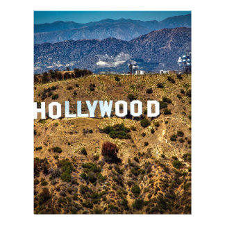 Hollywood Sign Iconic Mountains Los Angeles Letterhead