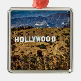 Hollywood Sign Iconic Mountains Los Angeles Metal Ornament