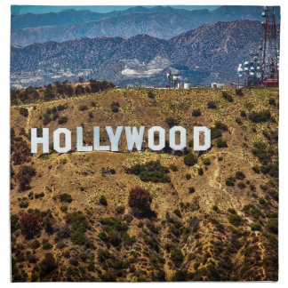 Hollywood Sign Iconic Mountains Los Angeles Napkin