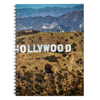 Hollywood Sign Iconic Mountains Los Angeles Notebook