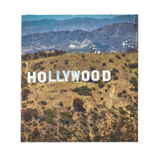 Hollywood Sign Iconic Mountains Los Angeles Notepad