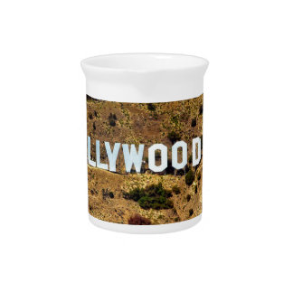 Hollywood Sign Iconic Mountains Los Angeles Pitcher