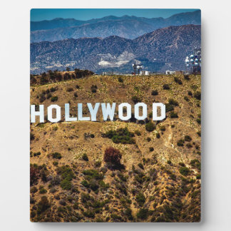 Hollywood Sign Iconic Mountains Los Angeles Plaque