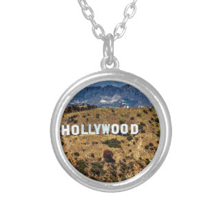 Hollywood Sign Iconic Mountains Los Angeles Silver Plated Necklace