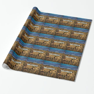 Hollywood Sign Iconic Mountains Los Angeles Wrapping Paper