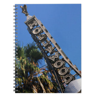 Hollywood sign, Los Angeles, California Spiral Notebook