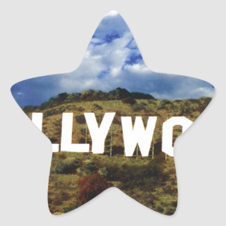 Hollywood sign usa americana hoolywoodland movies star sticker