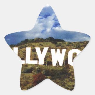 Hollywood sign usa americana hoolywoodland movies star sticker