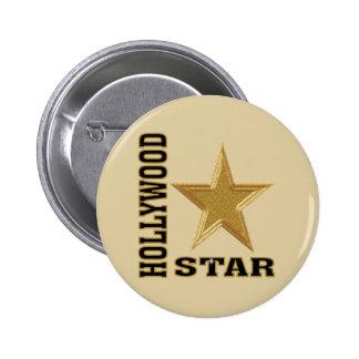 Hollywood Star 2 Inch Round Button