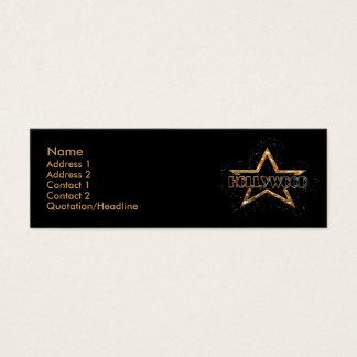 Hollywood Star Mini Business Card