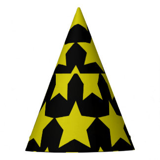Hollywood star paper hat (Black)