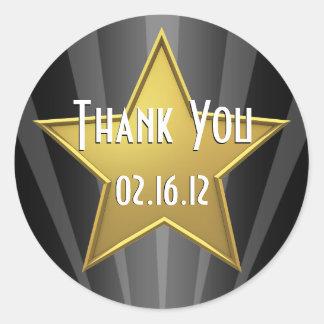 Hollywood Star Thank You Sticker