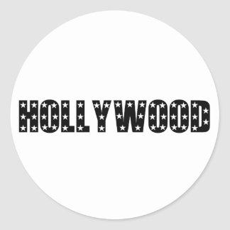 Hollywood Stars Sign Classic Round Sticker