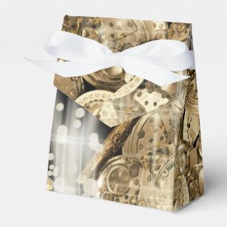 Hollywood stars steampunk gold black favor box