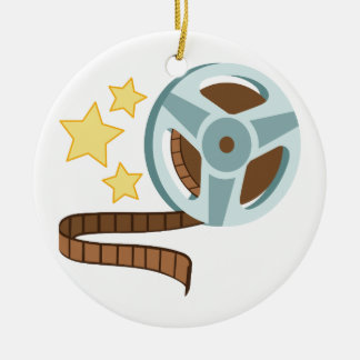 Hollywood Tape Roll Ceramic Ornament