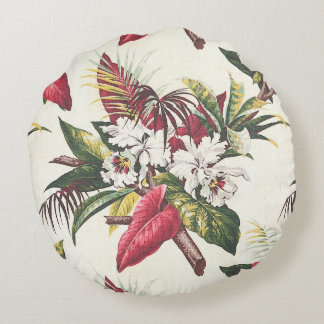 Hollywood Tropical Round Pillow