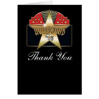 Hollywood Vintage Retro Custom Thank You Fold Card