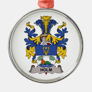 Holm Family Crest Metal Ornament