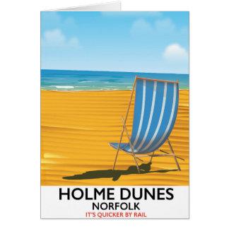 Holme Dunes Norfolk travel poster Card
