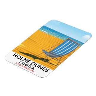 Holme Dunes Norfolk travel poster Magnet