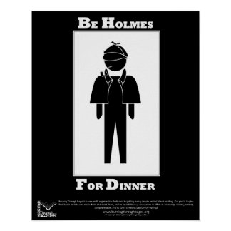 Holmes For Dinner Poster