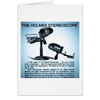 Holmes Stereoscope Advertisement (Cyanotype) Greeting Card