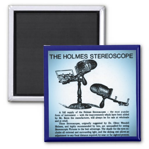 Holmes Stereoscope Advertisement (Cyanotype) Refrigerator Magnet