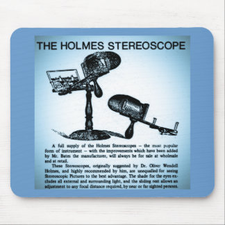 Holmes Stereoscope Advertisement (Cyanotype) Mouse Pad