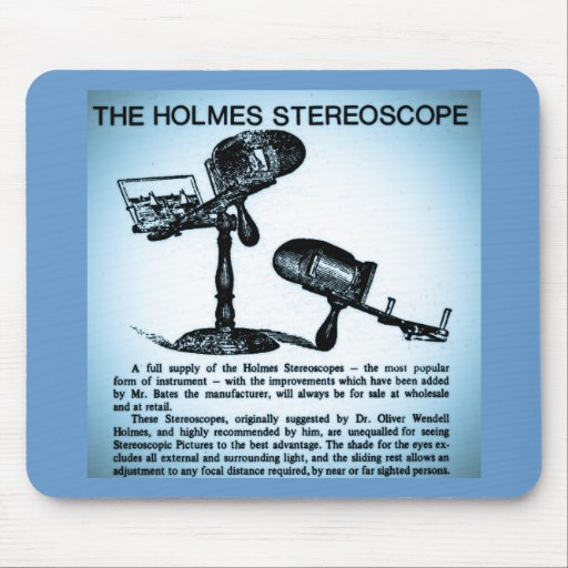 Holmes Stereoscope Advertisement (Cyanotype) Mousepad