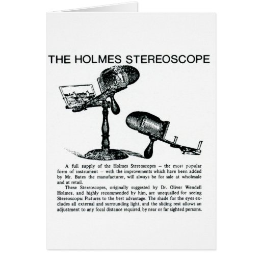 Holmes Stereoscope Advertisement - Vintage Greeting Cards