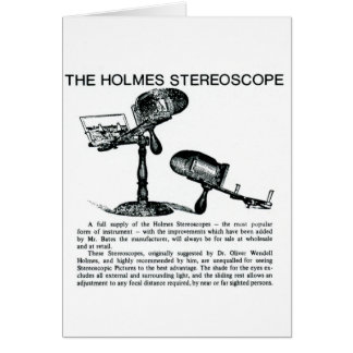 Holmes Stereoscope Advertisement - Vintage Greeting Card