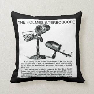 Holmes Stereoscope Stereoview Card Viewer Vintage Throw Pillow