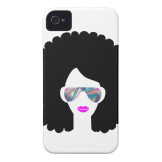 hologram afro girl iPhone 4 Case-Mate case