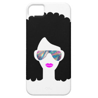 hologram afro girl iPhone 5 cover