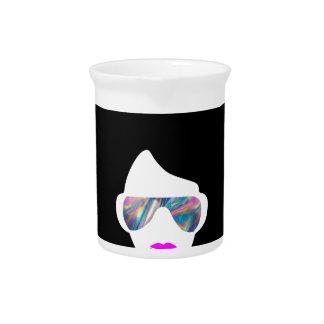 hologram afro girl pitcher