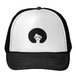 hologram afro girl trucker hat