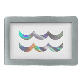 hologram Aquarius Rectangular Belt Buckle