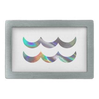 hologram Aquarius Rectangular Belt Buckles
