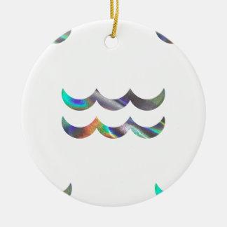 hologram Aquarius Round Ceramic Ornament