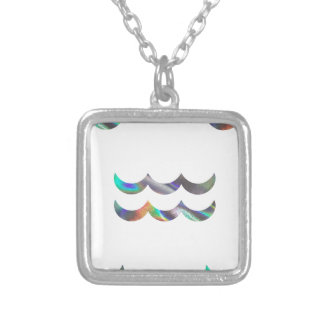hologram Aquarius Silver Plated Necklace