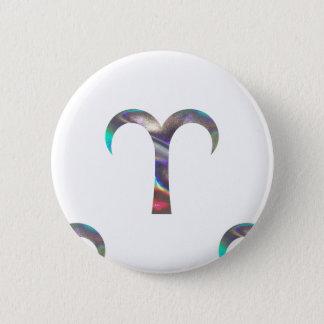 hologram Aries 2 Inch Round Button