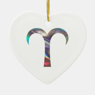 hologram Aries Ceramic Ornament