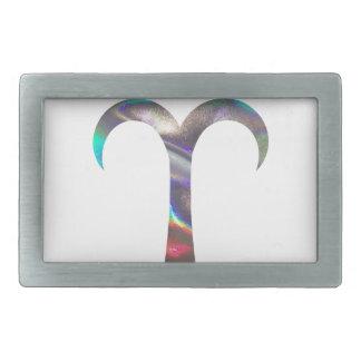 hologram Aries Rectangular Belt Buckles