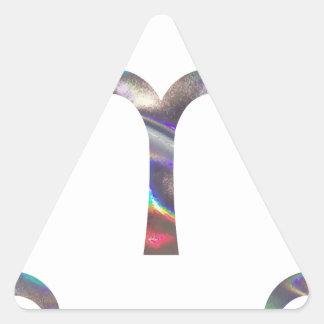 hologram Aries Triangle Sticker