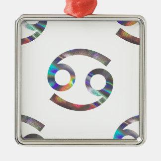 hologram Cancer Metal Ornament