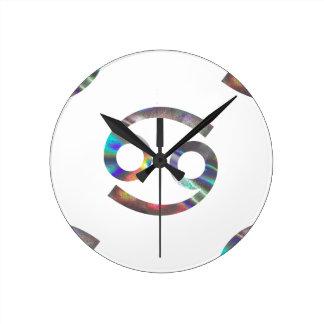 hologram Cancer Round Clock