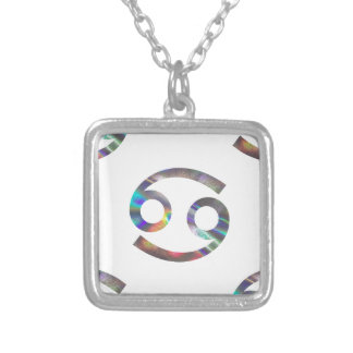 hologram Cancer Silver Plated Necklace